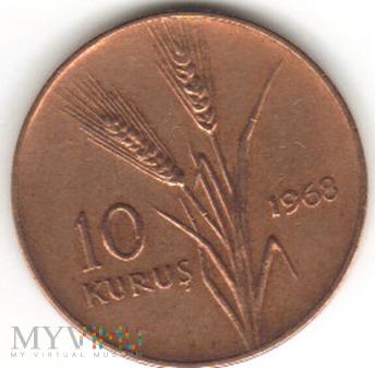 10 KURUS 1968
