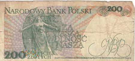 POLSKA PRL 200 ZŁOTYCH 1986