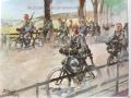 żołnierze na rowerach