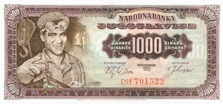 Jugosławia - 1 000 dinarów (1963)
