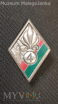 Odznaka 4 Regimentu Piechoty Legii Cudzoziemskiej
