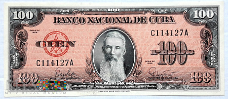 Kuba 100 pesos 1959