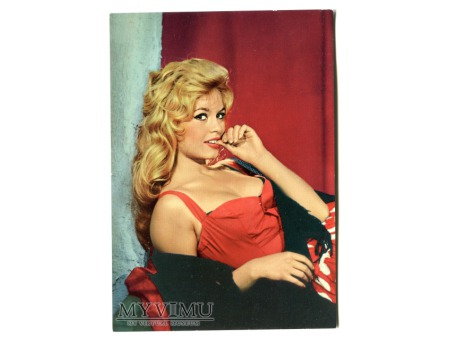 Brigitte Bardot actress Pin-Up vintage postcard