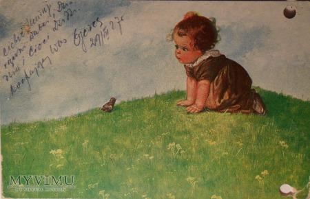 Dzieczynka i ptaszek
