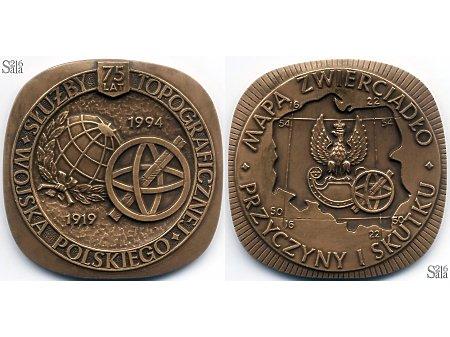 Duże zdjęcie Medal pamiątkowy 75 LAT SŁUŻBY TOPOGRAFICZNEJ WP