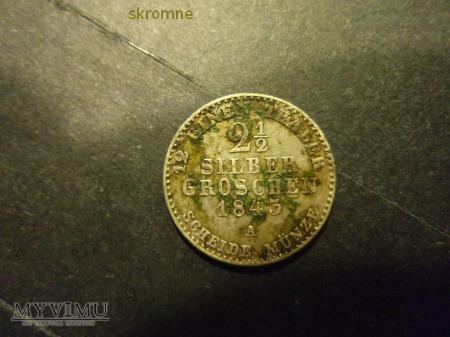 2,5 silber groshen 1843 A