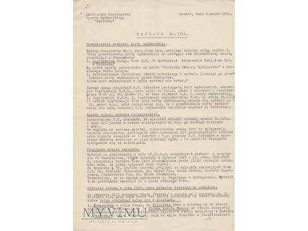 Okólnik (KTSW Wędzisko) 1/1941, 1/1944