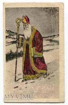 Święty Mikołaj Santa Claus Postcard Akropol
