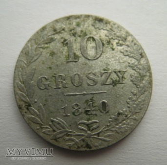 10 GROSZY - Królestwo Polskie (1840 MW)
