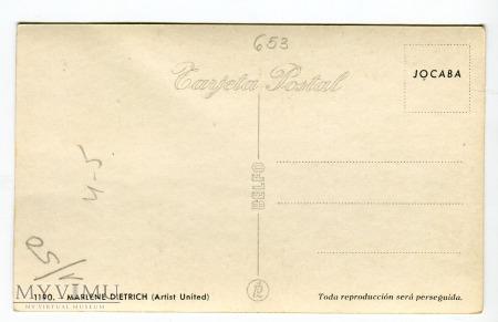 Marlene Dietrich Hiszpania Jocaba 1190