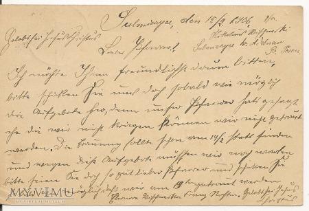 TELEGRAM SULMIERZYCE - WIESENTHAL 1906