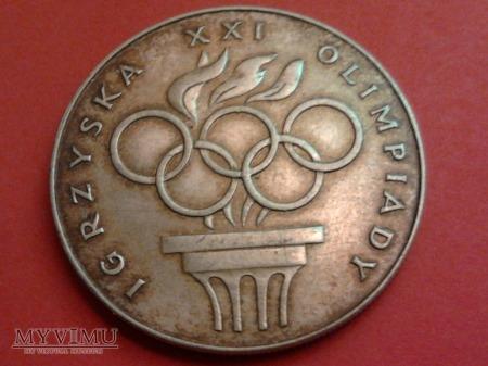 IGRZYSKA XXI OLIMPIADY 200 ZŁ 1976 ROK.
