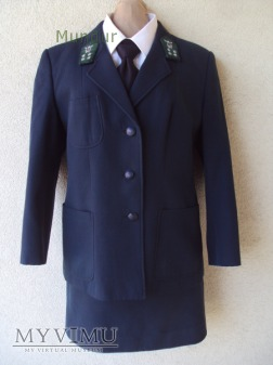 Mundur służbowy funkcjonariuszki celnej PRL