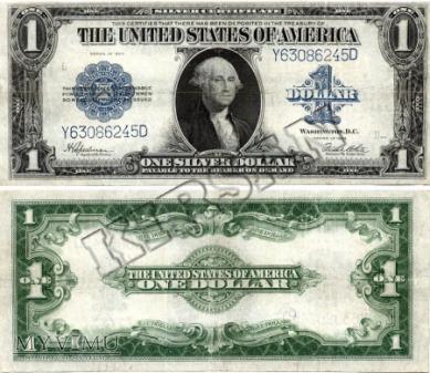 Banknot $ 1.00 silver dollar 1923 r