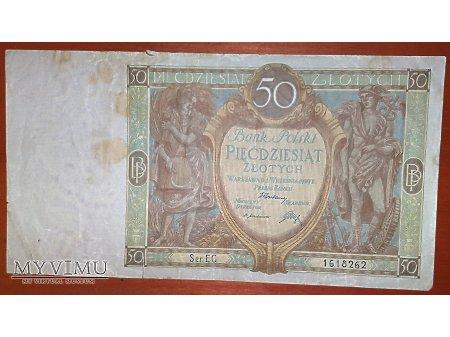 50 złotych z 1929 r.