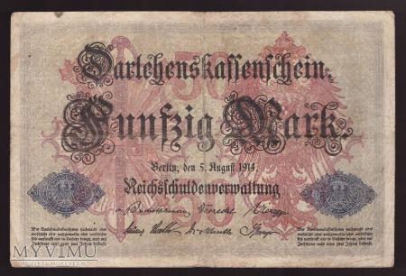Niemcy, 50 marek 1914r. Ser.N