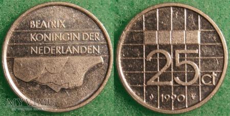 Holandia, 1990, 25 centów