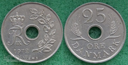 Dania, 25 Øre 1972