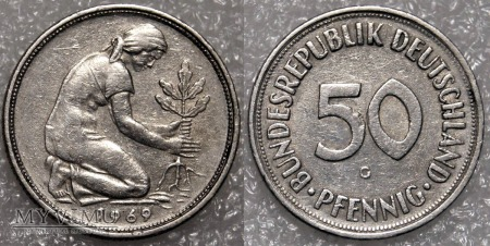 Niemcy, 1969, 50 PFENNIG