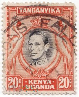 Kenya Uganda i Tanganyika 1938 King George VI