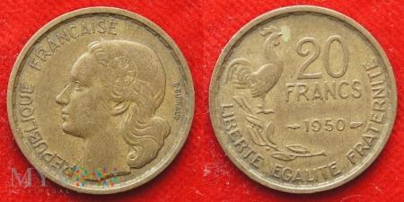 Duże zdjęcie Francja, 20 Francs 1950