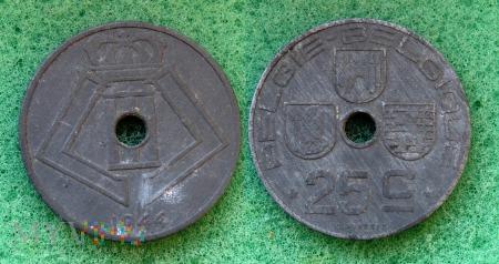 Belgia, 1944, 25 Centimes