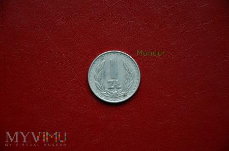 Moneta: 1 złoty