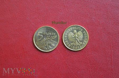 Moneta: 5 grosze od 1995r.