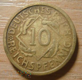 10 Reichspfennig 1924 E ,Republika Weimarska