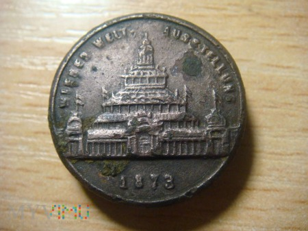 Medalik z Wystawy Światowej 1873 ,Wiedeń