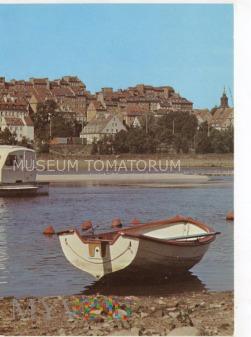 W-wa - Wisła - widok na Stare Miasto - 1980 ok.