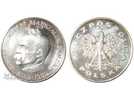 Duże zdjęcie Józef Piłsudski medal posrebrzany 1991
