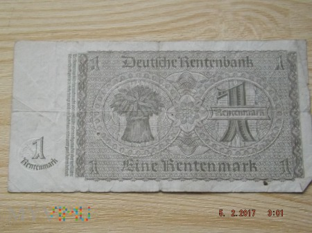 1 Rentenmark 1937