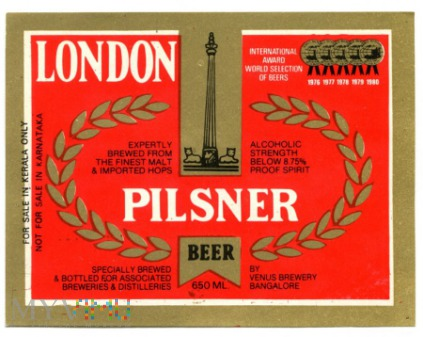 Bangalore, london pilsner