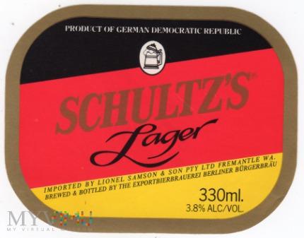 SCHULTZ'S LAGER