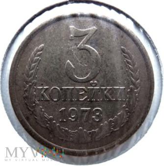 Duże zdjęcie 3 kopiejki - 1973 r. Rosja (Związek Radziecki)