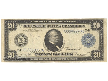 Duże zdjęcie 20 USD 1914