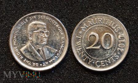 Mauritius, 20 centów 2012