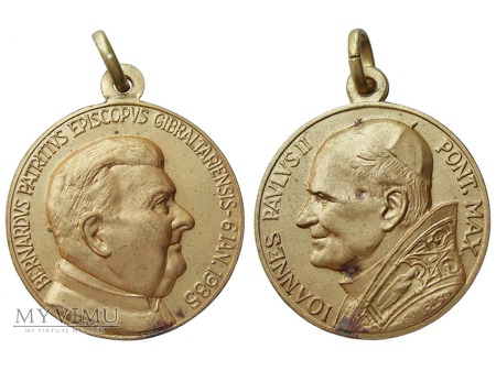 Bernard Patrick (Devlin) Gibraltar medal 1985