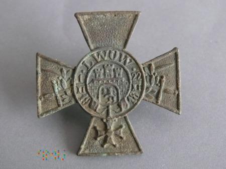 Krzyż obrony Lwowa z mieczami