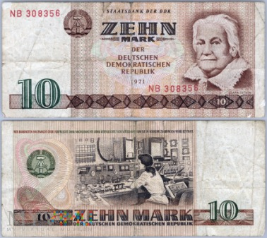 DDR, 10 marek, 1971