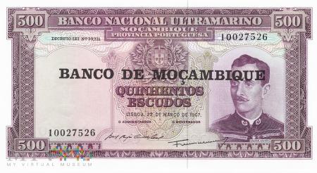 Mozambik - 500 escudos (1976)