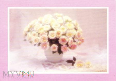 Duże zdjęcie Róże w wazonie
