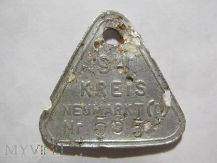 Duże zdjęcie Psi identyfikator KREIS NEUMARKT (D) 1941 565