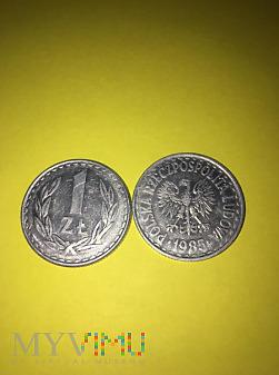 Monety 1 zł .PRL-u