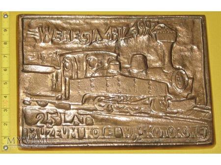 Medal kolejowy - usługowy Muzeum Kolei Wąskotor.