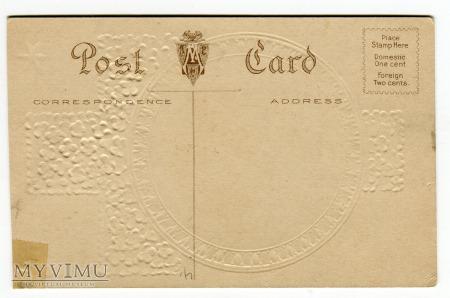 c. 1915 Anioł WIELKANOC stara pocztówka