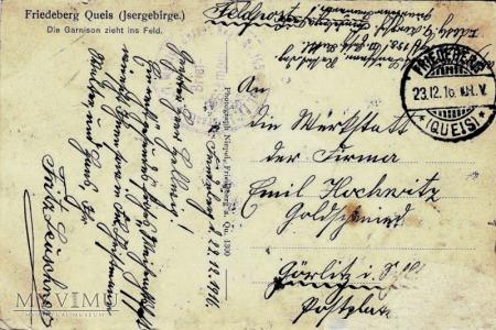 Pocztówka Friedeberg Queis Jsergebirge (Mirsk)