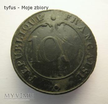 Guzik napoleoński nr 103 REPUBLIQUE FRANCAISE