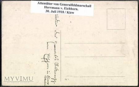 Feldmarszałek Hermann von Eichhorn 30 Juli 1918